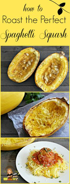 SO EASY, EXCELLENT ! How To Roast The Perfect Spaghetti Squash ! #howto #squash #summer #garden #delish #food