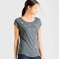 Scarlett Flying Cranes T-Shirt Print | ARMEDANGELS