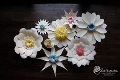 lace paper flower group