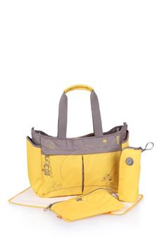 okiedog Metro diaper bag Mondrian yellow - Click image twice for more info - See a larger selection of diaper changing kits at http://zbabyproducts.com/product-category/diaper-changing-kits/ -baby,kids,infant, toddler,child,children, baby products, baby outdoor, baby gift ideas, bay shower, christmas, holidays