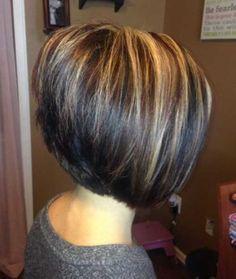 Hair Highlights for Inverted Short Hair
