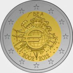 2 Euro Commemorative Coins Belgium 2012, Ten years of Euro cash
