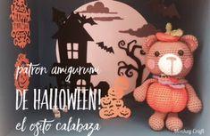 Monkey Craft: Patrón amigurumi halloween: osito calabaza - Hallo...