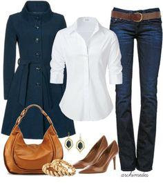 Azul marino y marrón