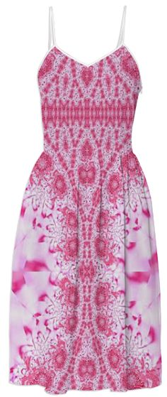 Pink Lace Summer Dress from Print All Over Me