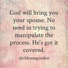 God has got it covered.