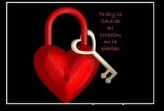 Fotos de Amor: Te doy la llave de mi corazon. Imagenes para compartir con tus amigos en Facebook, Twitter, Google+. Imagenes de Amor con fraces lindas