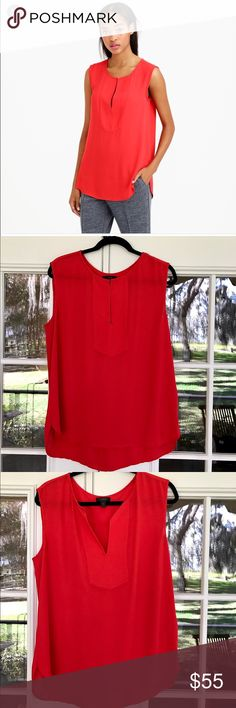 J.Crew Drapey keyhole top in electric red - sz 12 J.Crew Drapey keyhole top in electric red - sz 12,  this sleeves top is very chic with clean lines & an amazing drape. I loved them so much at the time I purchased in 3 colors as they were a go to staple - (black ,red & ivory) the red is gorgeous with blue , gray and navy suiting as well as great with jeans!  - selling to size down only I'll post the others all in sz 12 shortly and will discount for bundles! J. Crew Tops Blouses