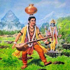 Lord Vishnu teaches Bhakti to Narada