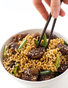 Mongolian Beef Ramen. Just like PF Chang's Mongolian Beef but with Ramen Noodles! Ready in less than 30 minutes.Mongolian Beef Ramen. Just like PF Chang's Mongolian Beef but with Ramen Noodles! Ready in less than 30 minutes. This may be one of my favorite recipes EVER