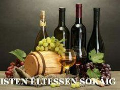 barrel, bottles and glasses of wine and ripe grapes on wooden table on grey background Stock Photo Holiday Gif, Banner Printing, Wooden Tables, Gray Background, Wine Rack, Barrel, Happy Birthday, Bottle, Creative