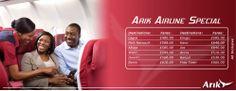 arik airline tickets