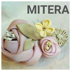 剣つまみの作り方〈全とじ〉 椿の葉 つまみ細工 | 「ミテラのかんざし」ギャラリーお母さまが作るつまみ細工のかんざし