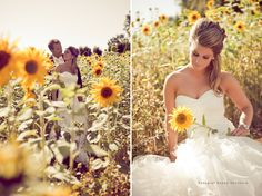 My ultimate favorite wedding pic! I'm in love with sunflowers... I will have a picture like this.