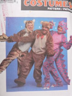 SeeSallySew.com - Dinosaur Bear Tiger Adult Halloween Stage Play Costume Simplicity 8583 Pattern Sz. Sm - Lrg. , $12.00 (http://stores.seesallysew.com/dinosaur-bear-tiger-adult-halloween-stage-play-costume-simplicity-8583-pattern-sz-sm-lrg/)