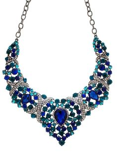 faceted jewel necklace set $46.30