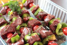Brochette de boeuf marinée au barbecue