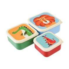 SET 3 CAJAS ALMUERZO COLOURFUL CREATURES  REX