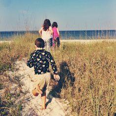 Kids on St. Joe Beach, Florida | Oysters & Pearls
