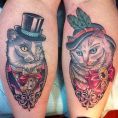 Awesome cat tattoos. #tattoo #tattoos #ink