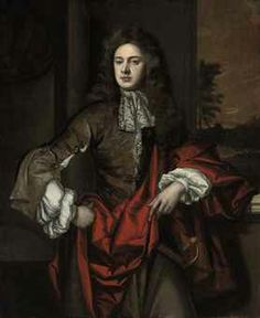 11. 1646-1723 Man wearing a lace cravat around the neck with a vest.