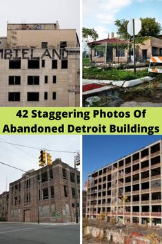The Motor City has officially run out of gas. And as evidenced by these photos, it was not just industry that abandoned Detroit; Abandoned Detroit, Trending Photos, Unique Business Cards, Louvre, City, Building, Illustration, Travel, Beautiful