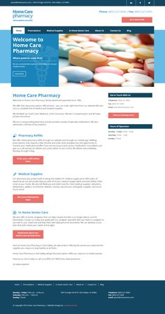 Pharmacy - Website Design by #CustomCreatives