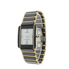Oniss ON294-MWT/GBK Men's Watch Diamonds Two-Tone Stainless Steel/Ceramic Case & Band
