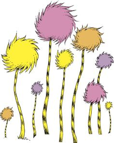 Lorax Truffula Trees Clip Art | Best Toddler Toys