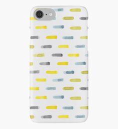 New work in my RedBubble shop : : : watercolour strokes chevron pattern iPhone Case/Skin