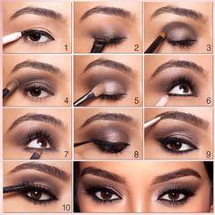 Get The Kim Kardashian Style Smokey Eyes Look #beauty http://www.thelosangelesfashion.com/2014/08/11/get-kim-kardashian-style-smokey-eyes-look/