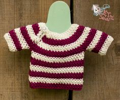 I love this little sweater because it works up so quickly. Perfect for a last minute baby shower gift or to make when your bored waiting for baby like I was.