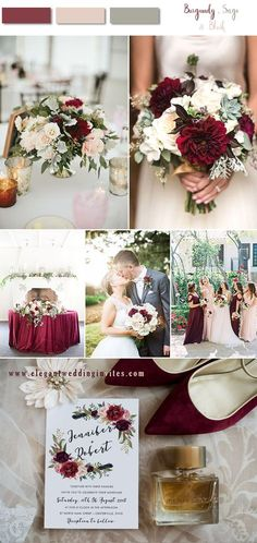 8 Stunning Fall & Winter Wedding Color Combos with Burgundy & Blush - Wedding Colors December Wedding Colors, Winter Wedding Flowers, Summer Wedding Colors, Spring Wedding Themes, Spring Weddings, Dream Wedding, Wedding Day, Wedding Venues, Wedding Decor