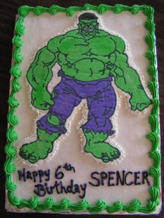 Spiderman hulk cake butter cream icing with fondant deocrations incredible hulk cakes bing images pronofoot35fo Choice Image