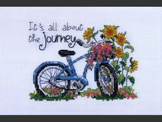 cross stitch bicycle | PROFESSIONAL MATTE CANVAS: PLEASE SELECT SIZE 40x50 (+$599.99) 36x45 ...