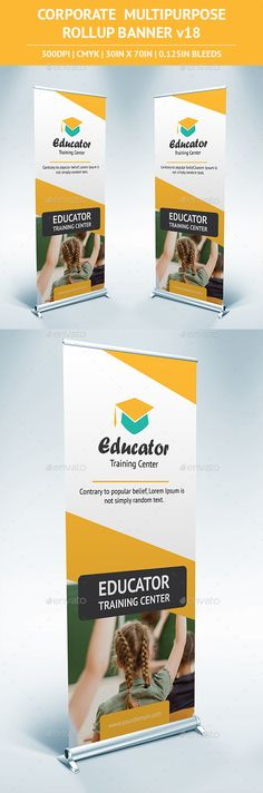 Rollup Banner Template #design Download: http://graphicriver.net/item/rollup-banner-vol18/11109383?ref=ksioks