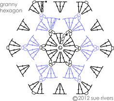 """Résultat de recherche d'images pour """"tuto granny hexagon crochet"""""""