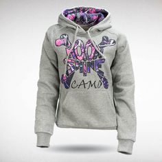 Moon Shine Camo - Muddy Girl Charcoal Grey Hoody, $49.99 (http://shop.moonshinecamo.com/muddy-girl-charcoal-grey-hoody/)