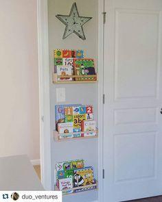 We love how creatively used BEKVAM spice racks as bookshelves in her son's nursery! Looks great – thanks for sharing! Bookshelves, Bookcase, Bekvam, Ikea Usa, Old Room, Spice Racks, Nursery, Instagram Posts, Home Decor