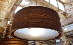 Lámparas de cartón reciclado de Graypants Studio