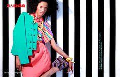 Editorial en Messenger Mag #Bright #Colors #Stripes #Texture #Patterns #Spring
