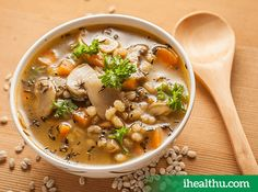 #HealthyRecipe Mushroom Barley Soup: A super soup for people on a weight loss diet and diabetics as it is rich in fibre.
