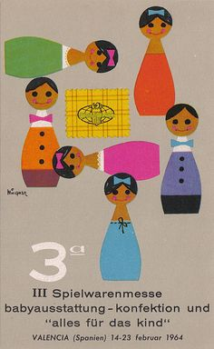 valencia children's fair postcard, 1964