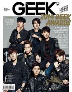 Infinite for Geek Magazine December Issue #Infinite #Sunggyu #Dongwoo #Woohyun #Hoya #Sungyeol #L #Sungjong