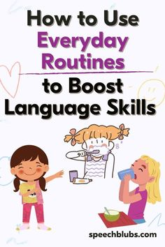 Waking up, getting dressed, and eating a meal are routines we do everyday. But did you know sneaking in some speech practice within these daily routines can reinforce your child's communication skills? Want to know how? Let's find out! Coping Skills, Life Skills, Speech Delay, Descriptive Words, Good Notes, Bedtime Stories, Communication Skills, Speech Therapy, Kid Names