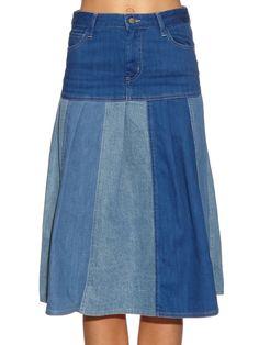 The Gilles panelled denim skirt | MiH Jeans | MATCHESFASHION.COM AU