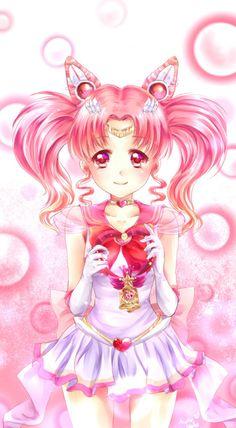 Sailor Chibi moon by OkotteNeko