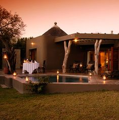 The pool at Bush Lodge at Sabi Sabi Private Game Reserve in South Africa.