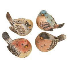 4 Piece Piedmont Bird Statue Set