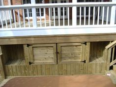 Under Deck Storage Ideas